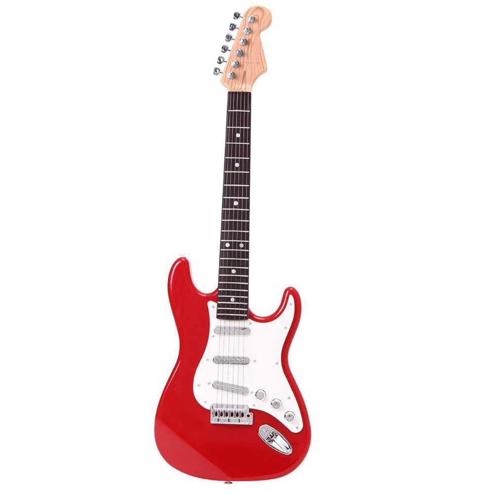 25 Children S Practice Electric Guitar 6 Musical Instruments Kids String  Toys Red By Fiat.