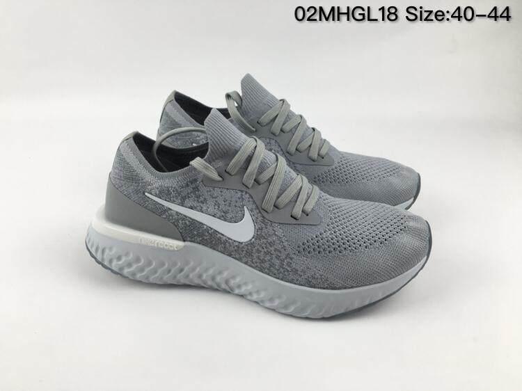 967cd37e863 Nike Epic React Flyknit Men s Running Shoe Comfortable Sports Sneakers  (Grey)