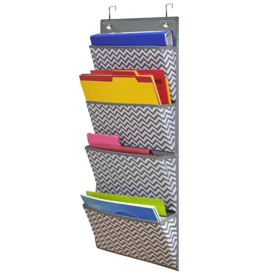 Hanging Wall Organizer Wall Mount Over The Door Office Supplies Storage Organizer Filing Folders Fabric 4 Pocket Cascading File Organizer Notebooks Planners Mail Letter File Folders Lazada Ph