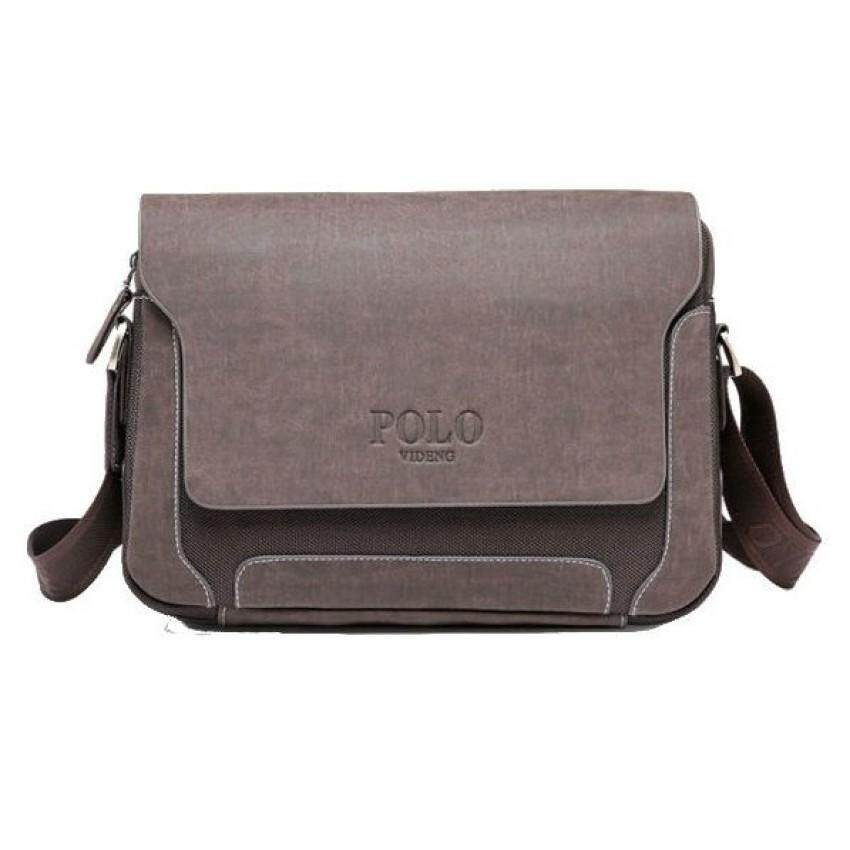 ZB Men´s Leather Shoulder Bag Men´s Bag Business Briefcase Genuine Messenger Bag