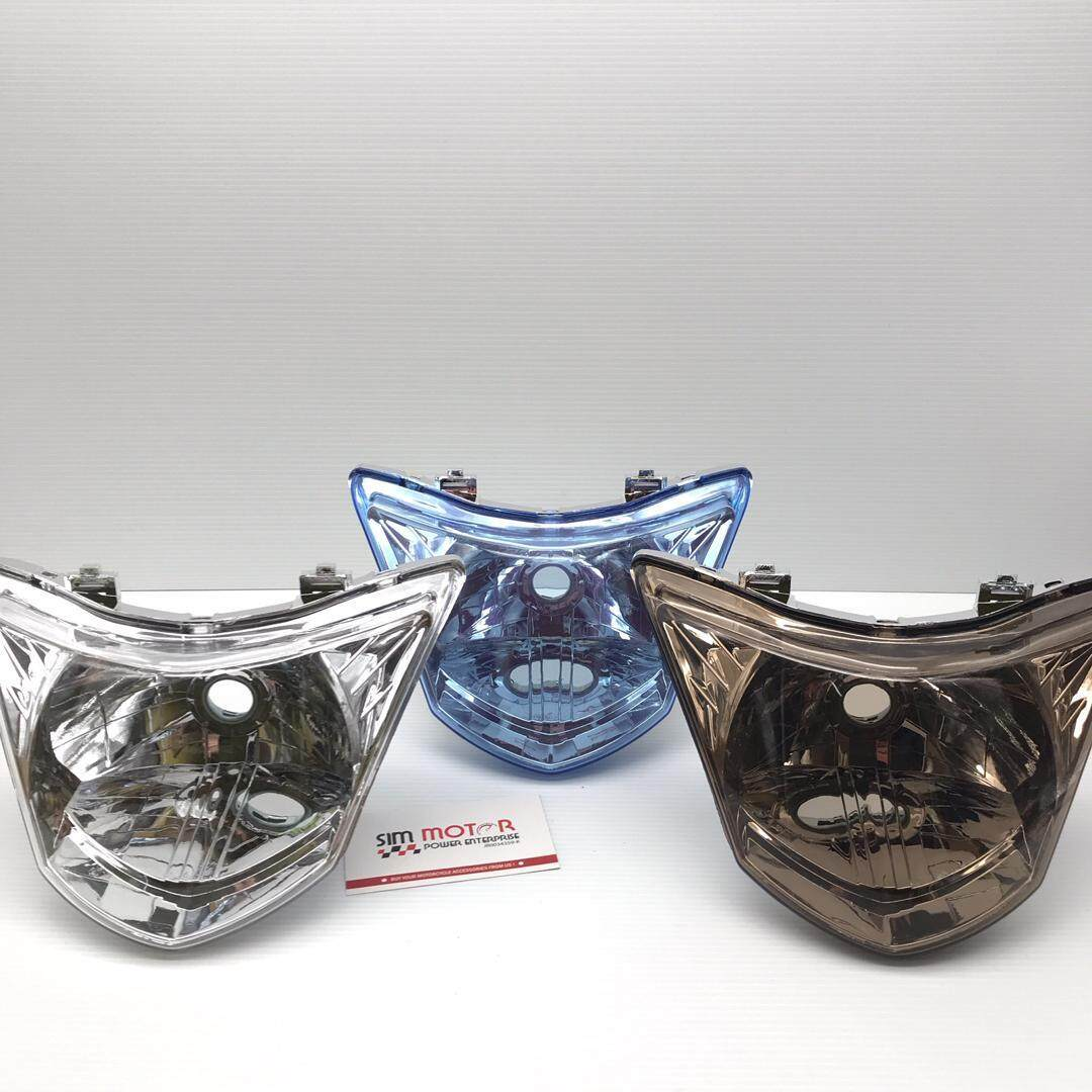 LC135 V1 HEAD LAMP (SMOKE/ BLUE/ CLEAR) NAKASONE