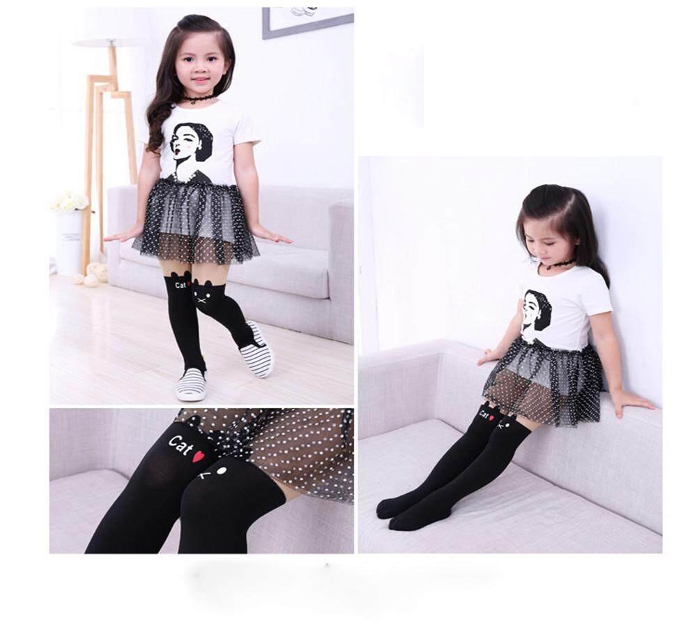 Pantyhose Cartoon Piece Socks Siamese Tights For Baby Girls Toddler Kids Simple