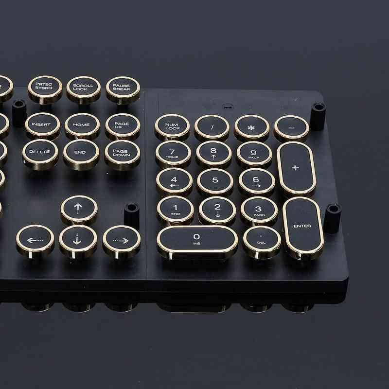 Newzone 87/104 keycap top print DIY keyboard switch cherry MX steampunk  typewriter mechanical keyboard key cap computer game player