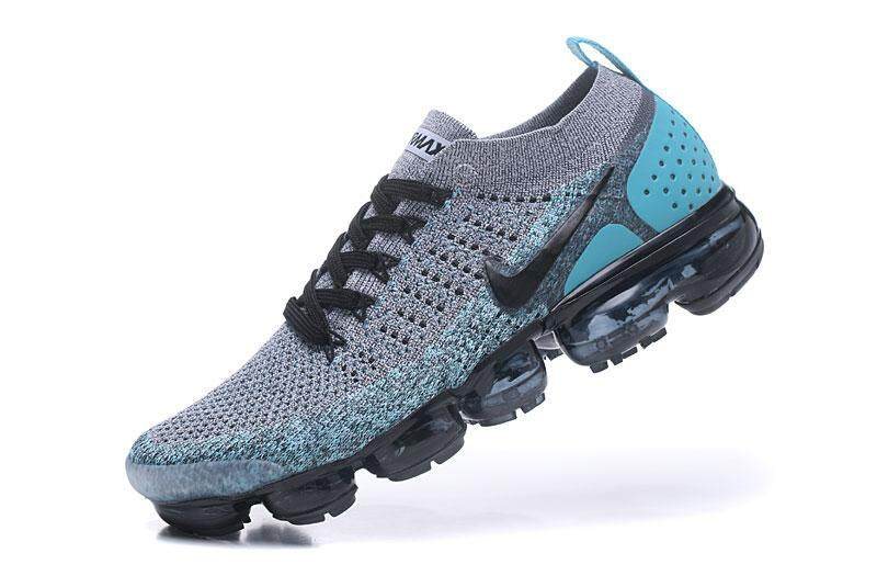 Nike Air VaporMax Flyknit 2 Men s Breathable Sports Shoes Comfortable Air  Cushion Running Shoes (Blue 4c632e8b9
