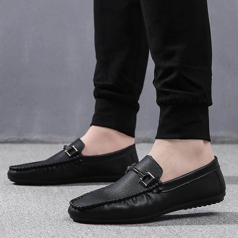 62400b162d Social Shoe Male 2018 New Style Moccosins Male Korean Style Cool Casual Leather  Shoes England Students