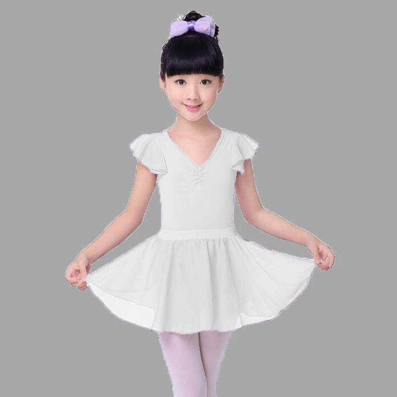 Girls Kids Ballet Dress Leotard+Tutu Skirt Chiffon Gymnastic Dancewear Costume