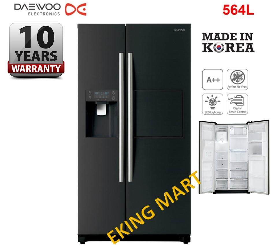 [Made In KOREA] Daewoo Korea ICE/Water Dispenser INVERTER 564L Side by Side 2 Door Refrigerator/ Fridge FPN-X608FB