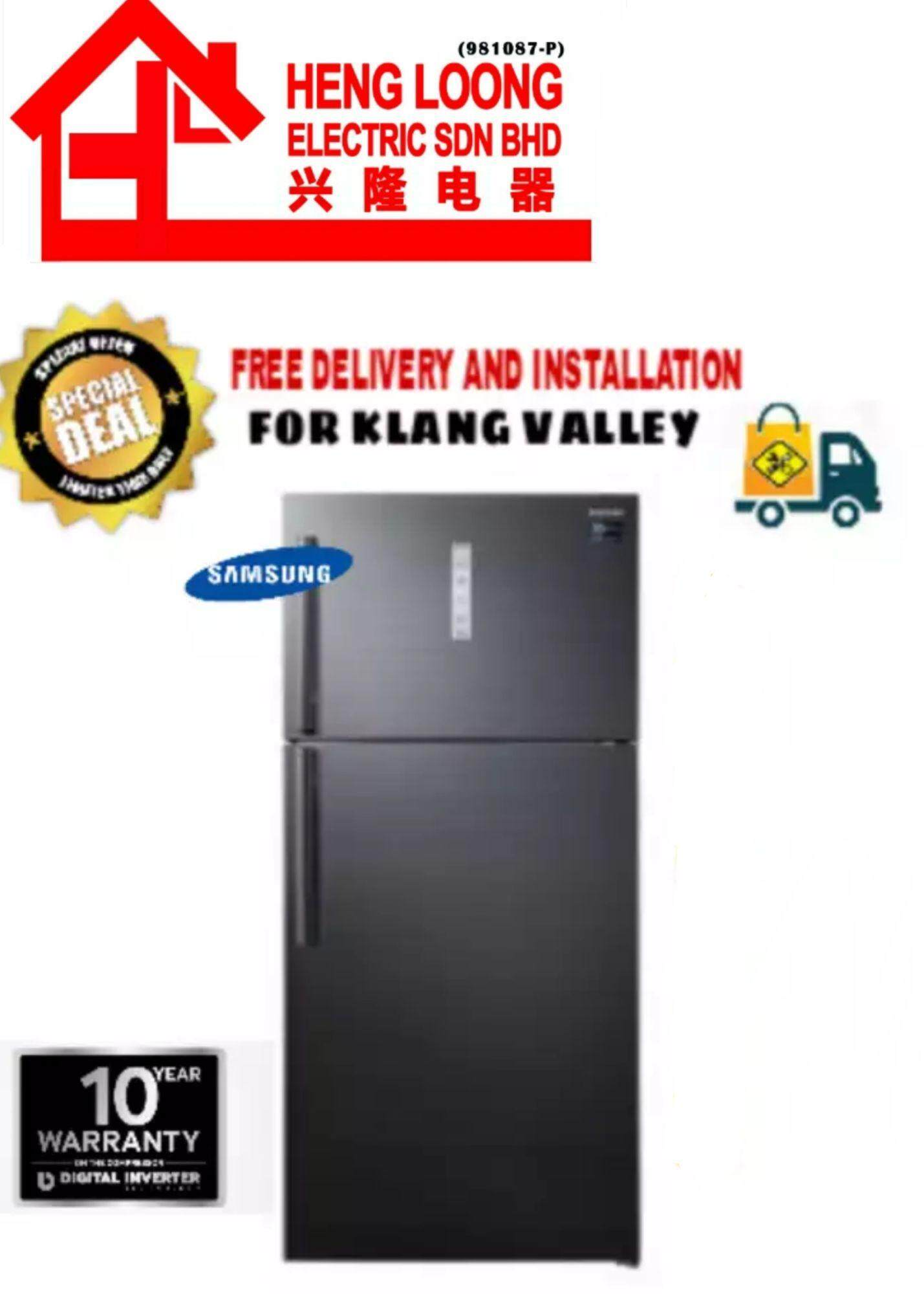 SAMSUNG 2 DOOR REFRIGERATOR 710L (BLACK) - RT62K7050BS/ME (FREE DELIVERY AND INSTALLATION)