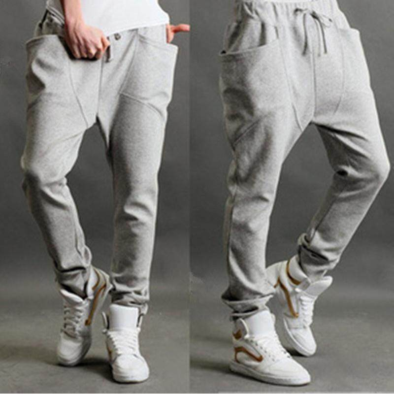 Hip-hop style Youth Men's Baggy pants Casual Knit Sweatpants