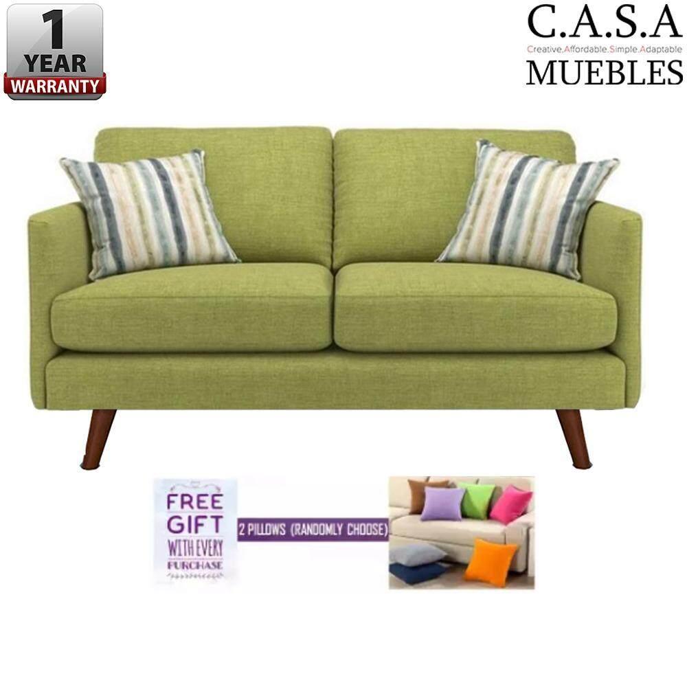Muebles Living Room 2 Seater Velvet Designer Sofa Lazada # Muebles Relax Exterior