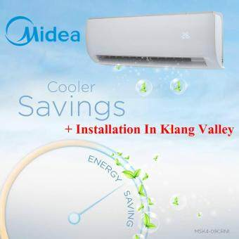 Midea MSK4-09CRN1 1hp with Ionizer Air Conditioner + Installation In Klang Valley