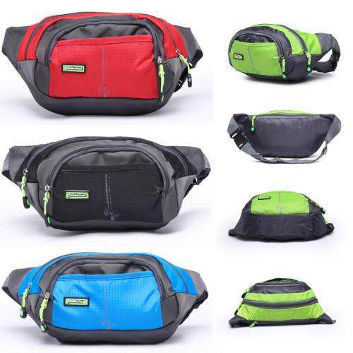 Waterproof Running Belt Bum Waist Pouch Fanny Pack Camping Hiking Zip Bag Hot