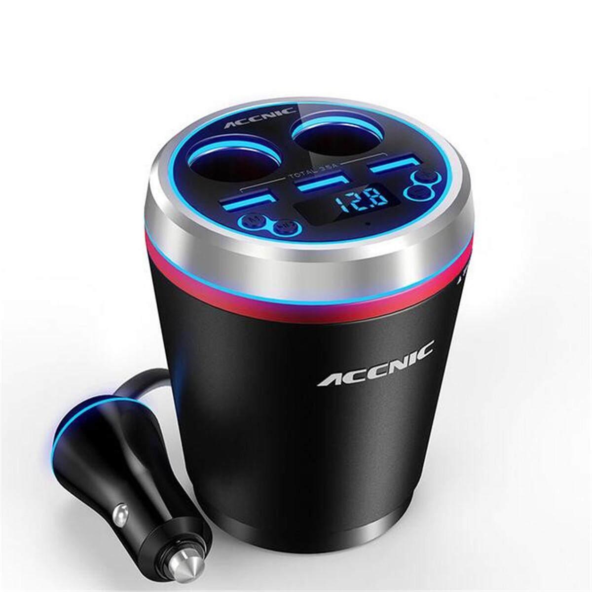3 cổng Sạc USB Phát FM Radio MP3 Nghe bluetooth Bộ Tay Nghe #-đỏ-quốc tế
