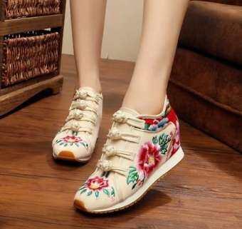 ใหม่ Loafers รองเท้าดอกไม้ปักรองเท้าแบนผู้หญิงจีนรองเท้าสบายๆกีฬารองเท้า