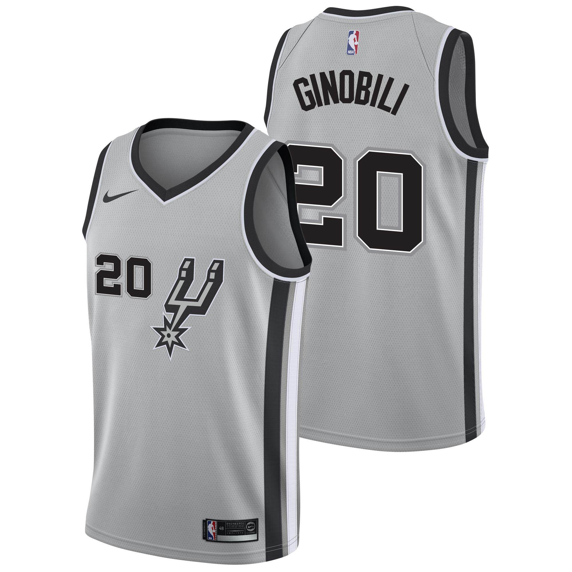 NBA Small Icon Edition Black San Antonio Spurs For Man NO.20 Basketball Clothes Manu