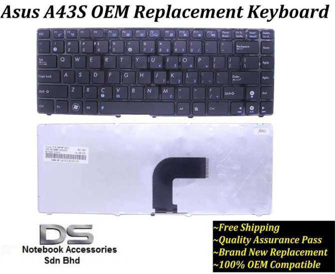 Penggantian/kompatibel Papan Ketik Laptop Untuk Asus A43 A43e A43sj/asus A43s Keyboard Laptop By The Lansi Shop.