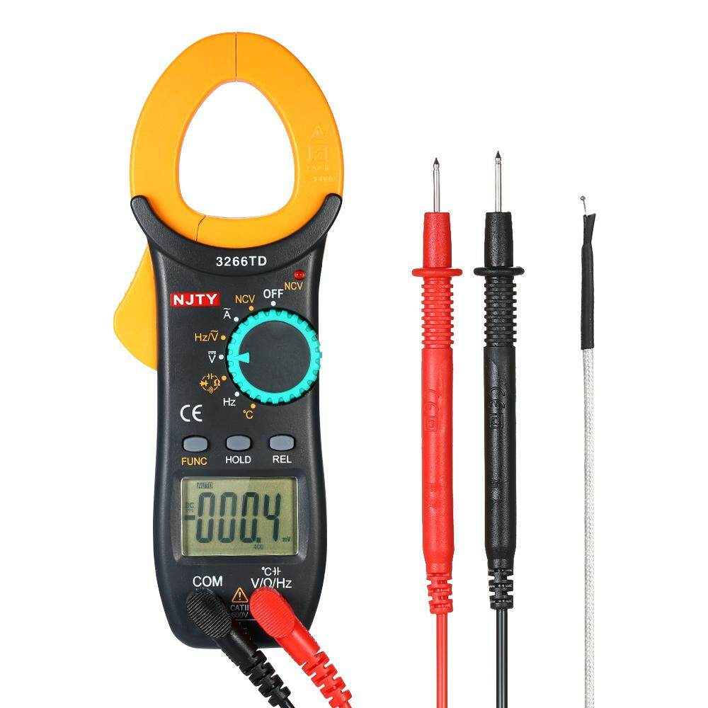 Digital Clamp Multimeter AC//DC Tester Frequency Voltage Meter 1999 Counts