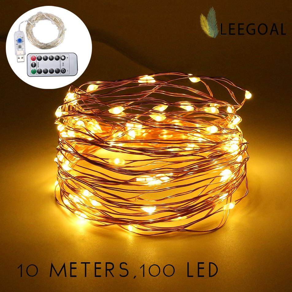 leegoal 10M 100 LED Fairy Lights USB Plug In With Remote Control ...