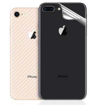 【ซื้อ 1 แถม 1】For iPhone 6 6 S 7 8 PLUS X XS MAX XR คาร์บอนไฟเบอร์ป้องกันฟิล์ม