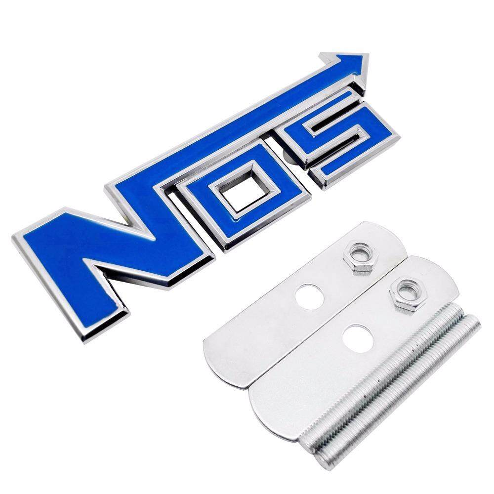 Rainbow Auto Accessories 3D Metal NOS Logo Grille Emblem badge Sticker Styling For Proton Wira Persona Waja Saga Gen2 Preve - intl