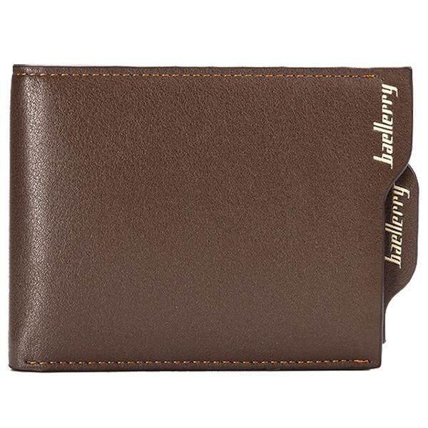 baellerry New Fashion Men Portfolios Bifold ID Card Holder Wallet Bag Wallet Cross With section With coffee Zipper Men Coupling