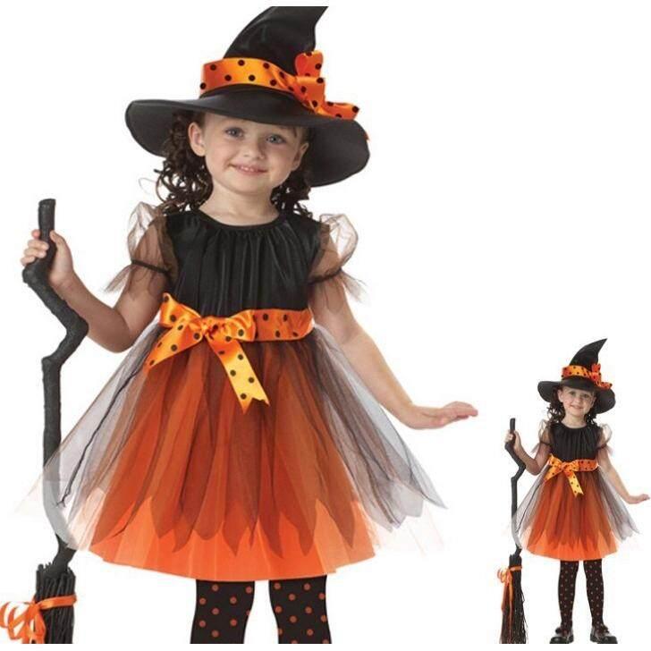Anak-anak Halloween Cosplay Role-Playing Penyihir Baju Performa | Lazada Indonesia