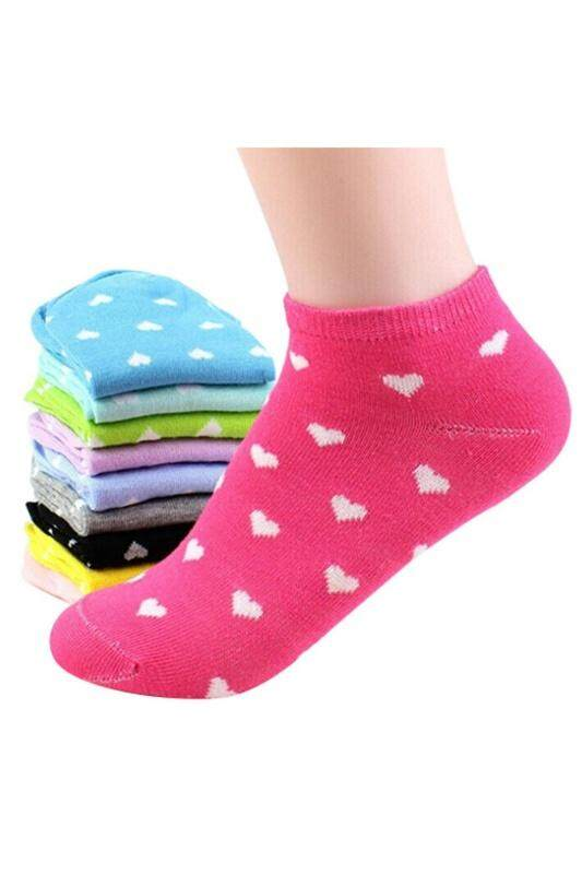 3719f207e64139 Product details of 5 Pairs Womens Girls Ankle Low Cut Socks Casual - Random  Color - intl