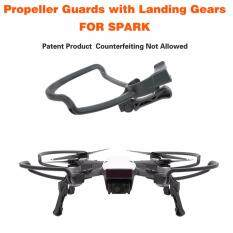 Propellers Guards+Extend Landing Legs Gear Kit Protection For DJI SPARK Drone Black