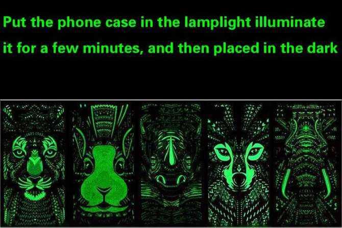 SHUNJIA [Night Luminous Glow] Wolf Pattern Redmi5 Plus Casing Hard Cover Case For Redmi 5 Plus - intl