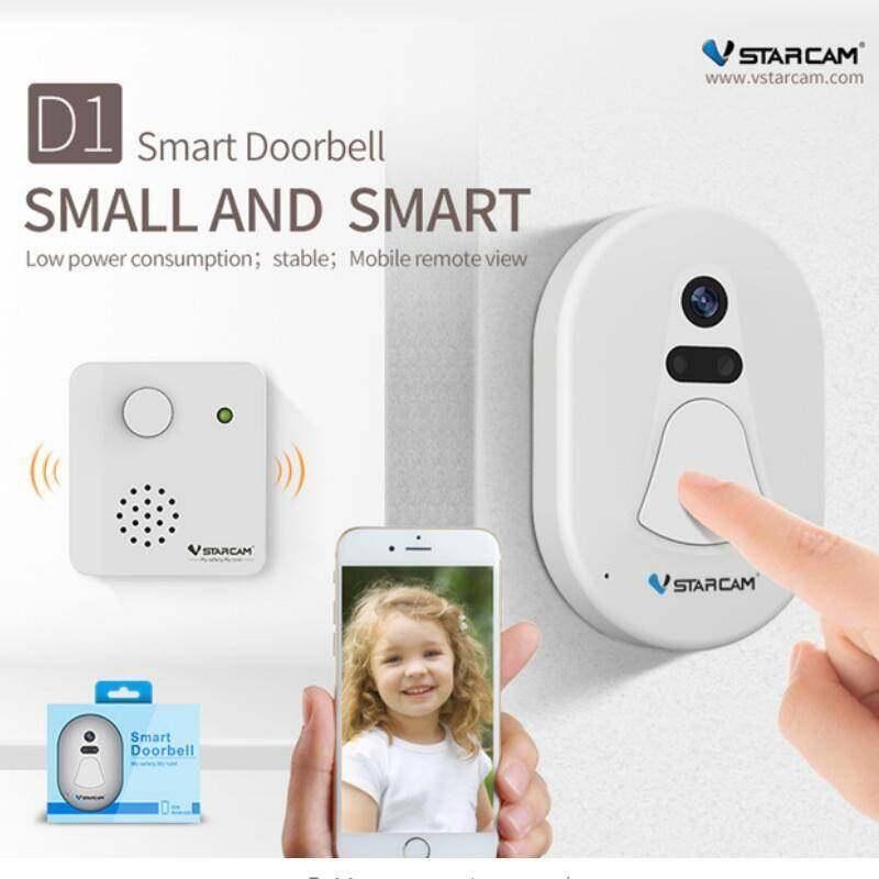 AllCute Vstarcam D1 Wifi Doorbell Camera 720P WIFI Smart Camera Viewer Home Security System Wide Angle Digital Alarm Door Camera Bell (EU/USA/Australia/UK Plug)
