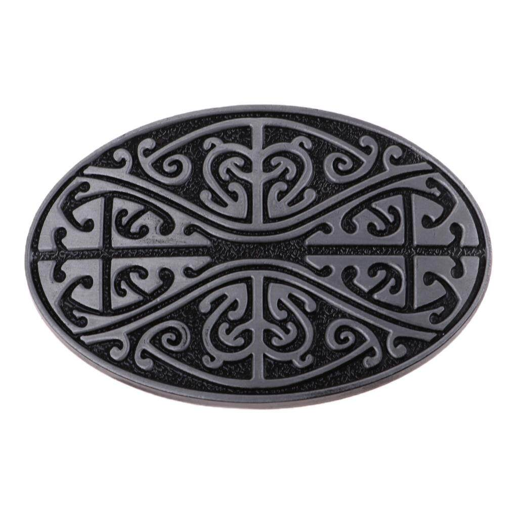 MagiDeal Indian Cowboys Jeans Celtic Pattern Belt Buckle Western Alloy Belt Accessory