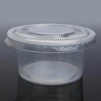 100 x Clear 150ml Plastic Sauce Disposable Small Container with Lid AUS. Made