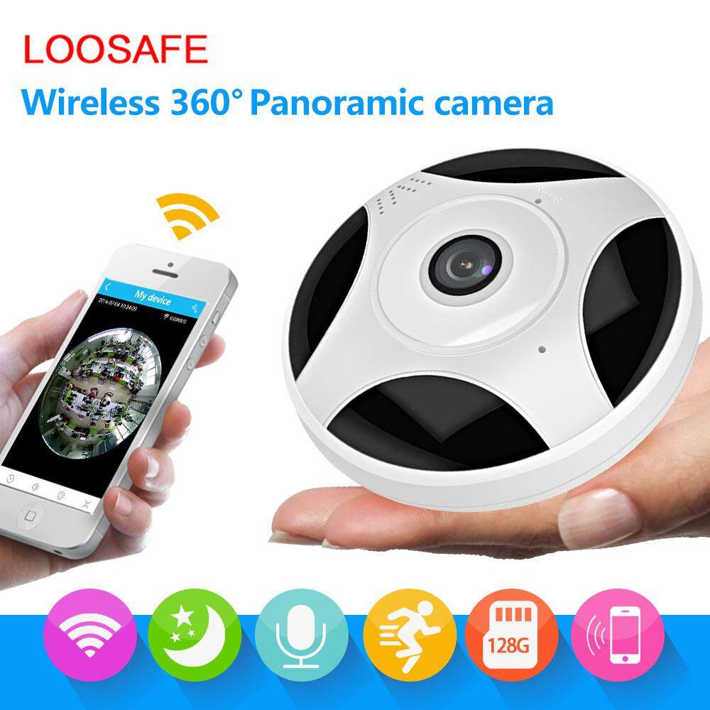 LOOSAFE 1080P 360 Panoramic IP Camera Wireless WiFi IP Fisheye Camera,2.0MP Home Security Surveillance VR Camera - intl