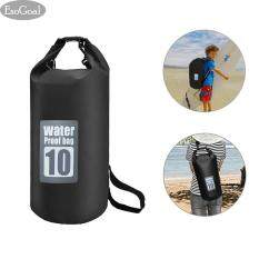 EsoGoal Waterproof Roll Top Dry Bag Floating Dry Compression Sack Keeps Gear Dry for Kayaking, Canoeing, Beach, Rafting, Boating, Snowboarding, Hiking, Camping and Fishing 10 L