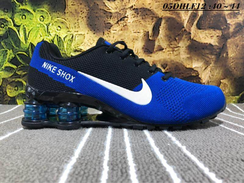 detailed pictures 3c040 a46cc Nike Shox Men s Running Shoe Breathable Sports Sneakers (White Blue)
