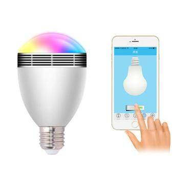 Smart E27 B22 LED SMD5050 Bluetooth Music Dimmable Light Bulb for Home Office