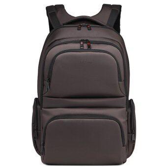 Fashion Waterproof Backpack Men 15.6 Inch Laptop Leisure School Back Bag - Coffee