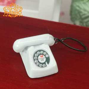 Hình ảnh Mini 1/12 Vintage Phone Telephone Dollhouse Telephone Miniature Decoration - intl