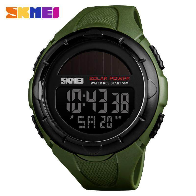 2019 SKMEI New Fashion Solar Power Men Sports Watches LED Digital Watch Luxury Brand Electronic Sport Waterproof Wristwatches 1405 Malaysia