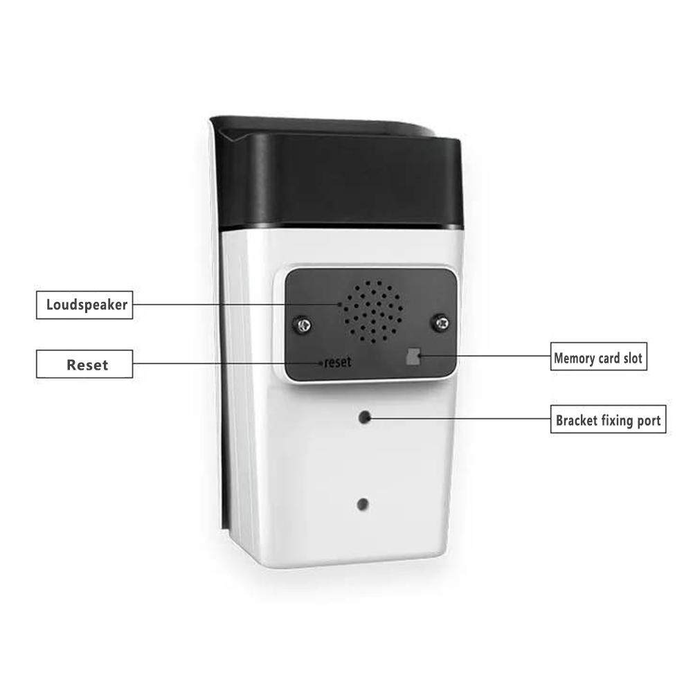 Infrared Night Vision IP66 Waterproof HD Wireless WIFI Monitor Camera With Power Adapter and Bracket
