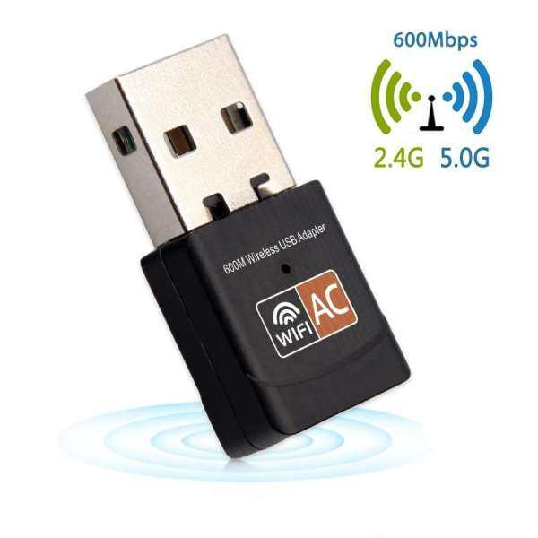 Colaua USB Wifi Adapter Wireless Mini Ethernet Network Card Dual Band 2.4G/5G 600Mbps Wifi Usb Receiver 802.11a/g/n/ac for PC
