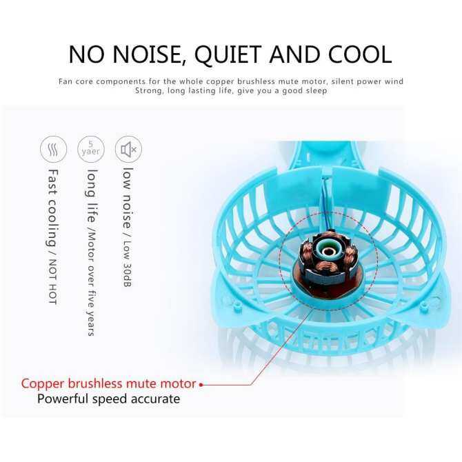oppoing Cartoon Fox Mini Fan, Hand Held Cooling Air Conditioning Personal Handheld Easy to Carry Small Hand Bar Desktop Cooling Fans - intl
