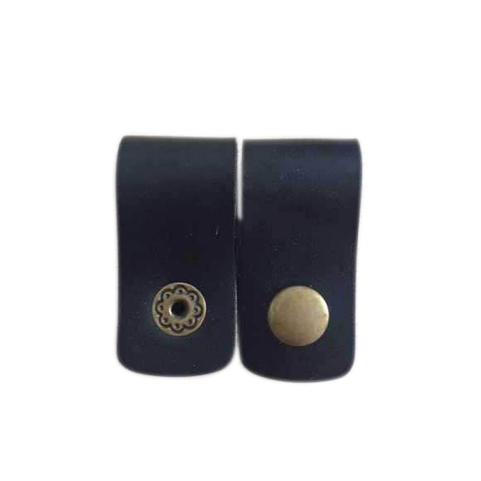 2Pcs Handy Leather Headphone Earphones Cable Tie Cord Organizer Winder Wrap hot