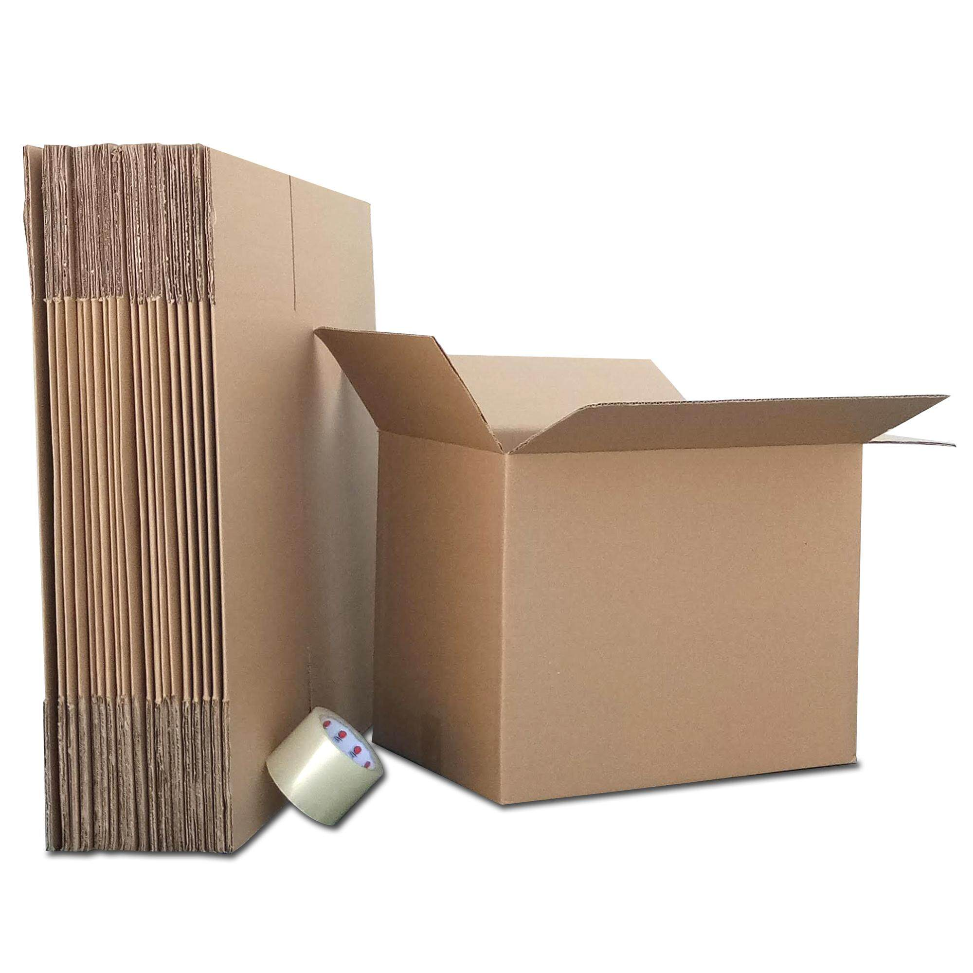 Moving Pack 20 Boxes Corrugated Cardboard Cartons