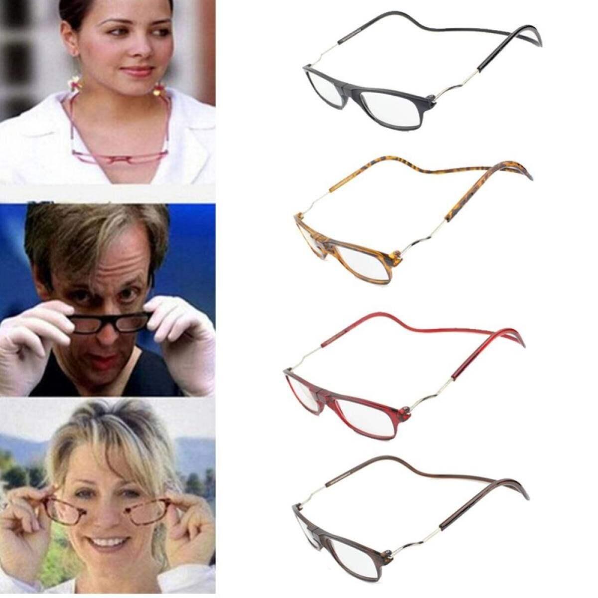 Moonar Unisex Folded Hanging Magnetic Reading Glasses (Black 150 degree)