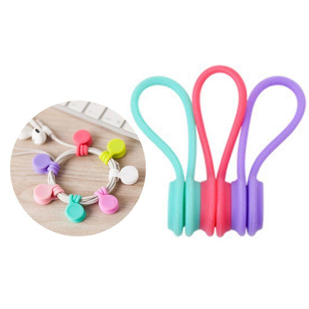 10pcs Handy Silicone Headphone Earphone Cable Tie Cord Organizer Winder Wrap A