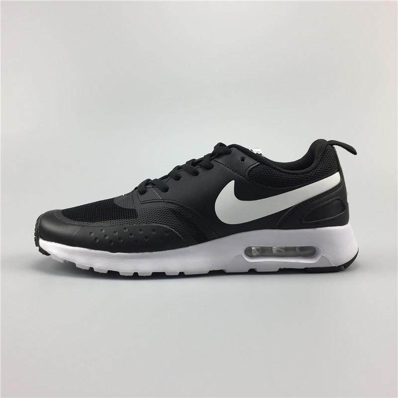 86b13cba1773f Nike Air Max Vision Men s Women s Lightweight Running Shoe Fashion Casual  Sneakers (White Black