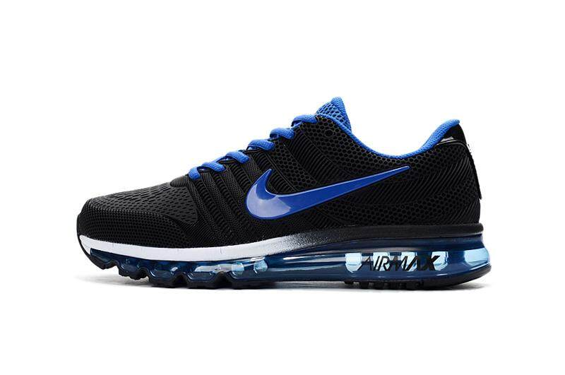 7e2b231df9 NIKE Original 2017 AIR MAX Men's Breathable Running Shoes Fashion Sneakers  (Black/Blue)