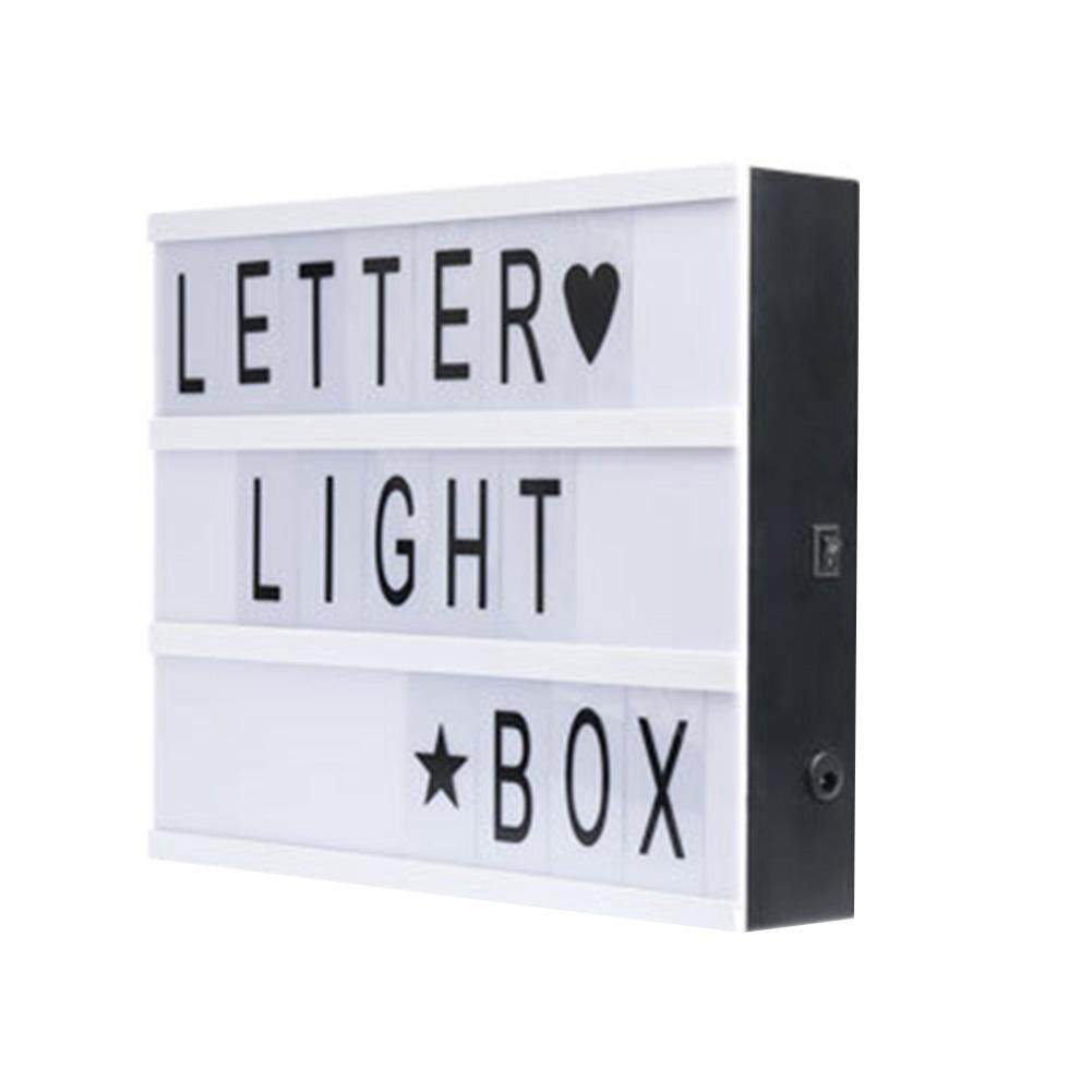 A5 LIGHT UP LETTER BOX CINEMATIC LED SIGN WEDDING PARTY CINEMA PLAQUE SHOP HOME