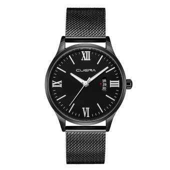 CUENA นาฬิกาหรูหรานาฬิกาควอตซ์สายสแตนเลส Casual สร้อยข้อมือนาฬิกา-